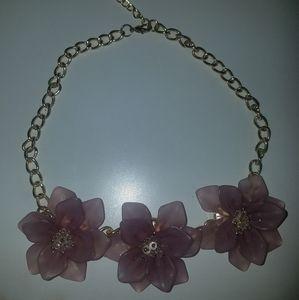 Jewelry - Mauve flower adjustable  necklace